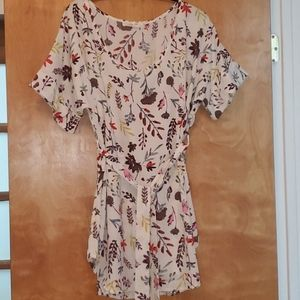 Modcloth floral tie waist tunic top, NWOT